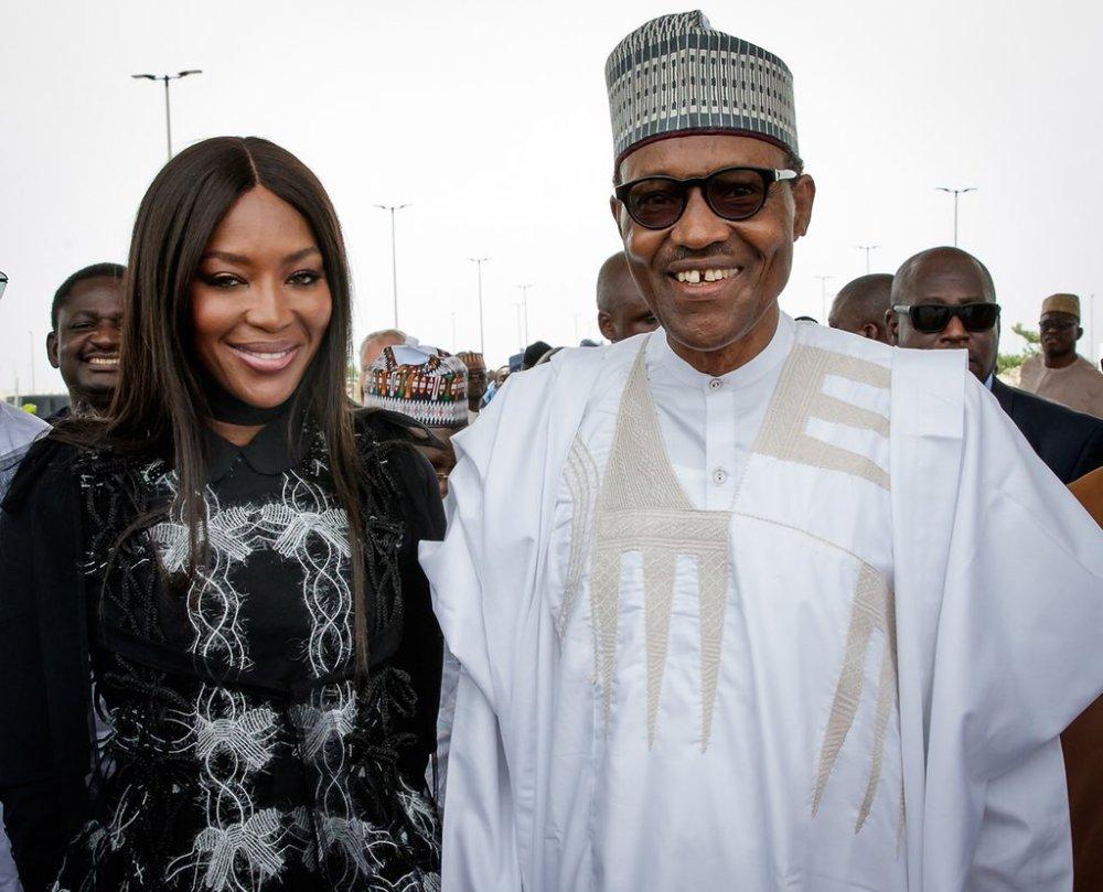 Buhari-and-Naomi-Campbell-in-Lagos