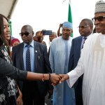 Nigeria's President Buhari Spotted With Naomi Campbell In Lagos