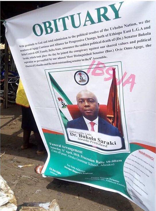 Bukola Saraki Obituary Poster