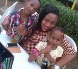 Aisha Abimbola and children