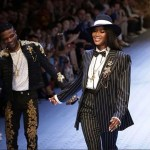 Historic Moment For Wizkid As He Walks the Runway With Naomi Campbell In Dolce & Gabbana Brand In Milan