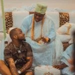 You Won't Believe How Davido Greets Ooni Of Ife At His Palace
