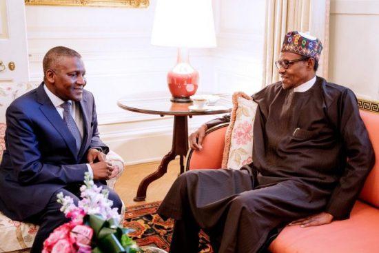 Aliko Dangote and Buhari