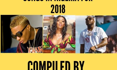 Top 10 Hottest Songs In Nigeria for 2018 Compiled by GYOnlineNG.COM