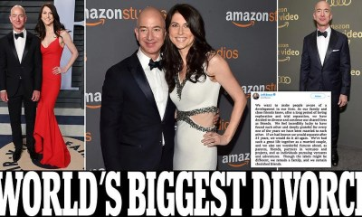 Jeff Bezos and wife MacKenzie announce divorce