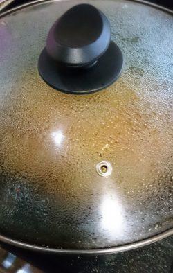 蓋をして焼く