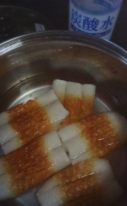 炭酸水で煮る
