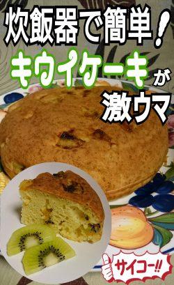 炊飯器で簡単!キウイケーキが激ウマ