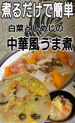 煮るだけで簡単!白菜の中華風うま煮