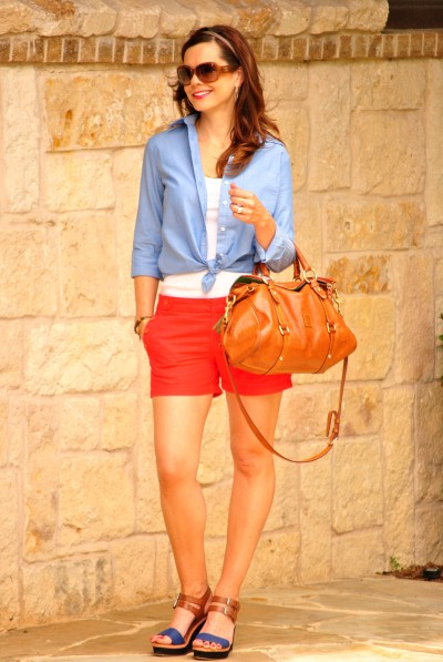 Red Shorts Blue Oxford Full