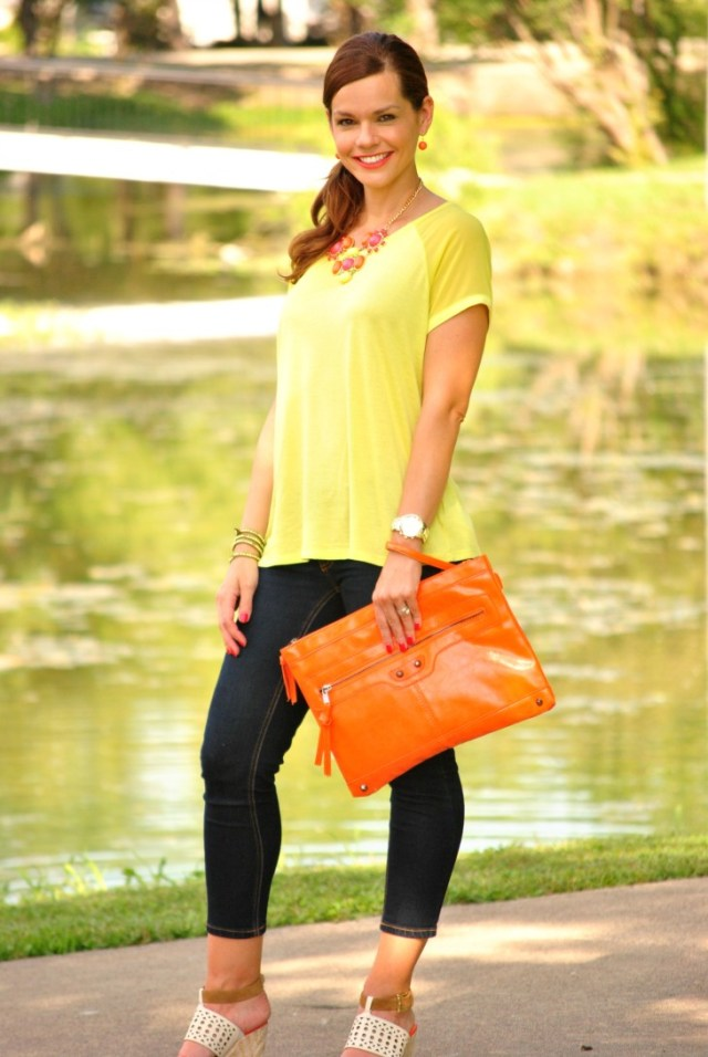 Neon Yellow Shirt Jeans Full