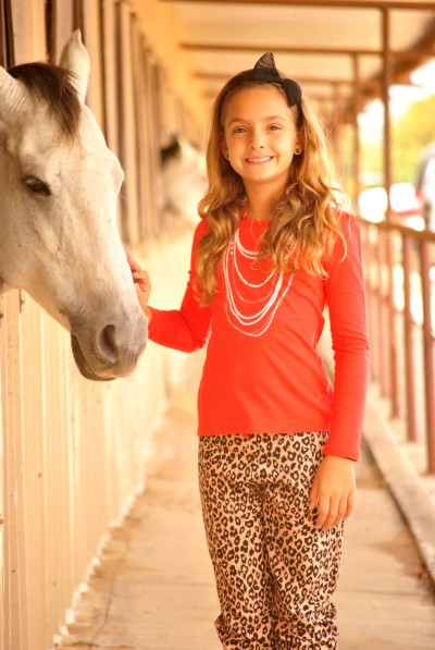 Leopard Ava and Horse