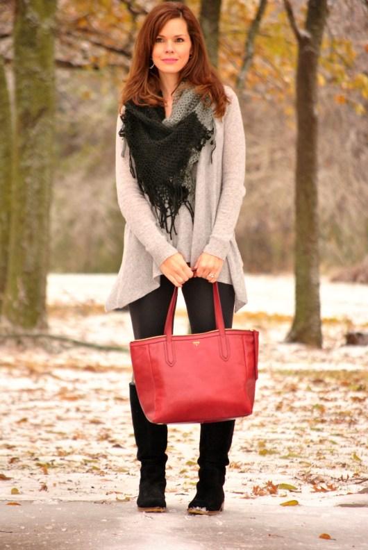 Cashmere Sweater Leggings Purse Full