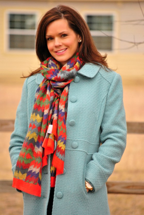 Blue-wool-coat-scarf-half