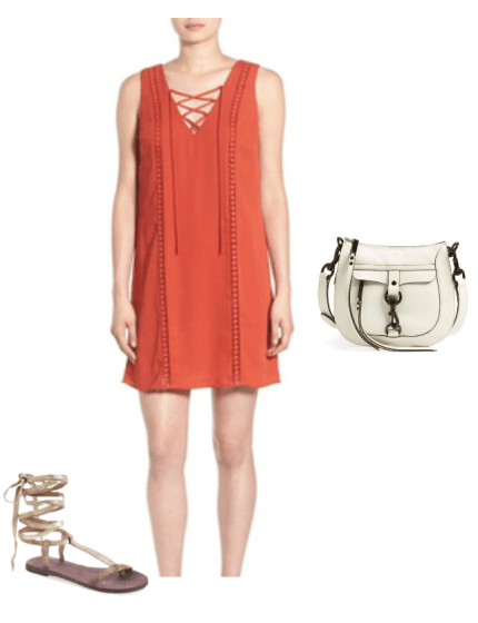 lace up dress gladiator sandals outfit