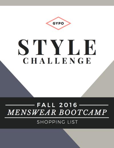 Menswear Bootcamp Shopping List