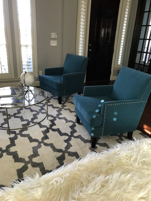 teal arm chairs