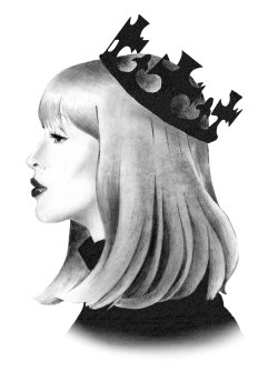fashion illustration - crowned