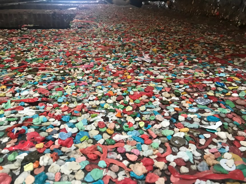 Bubble gum wall Seattle Washington