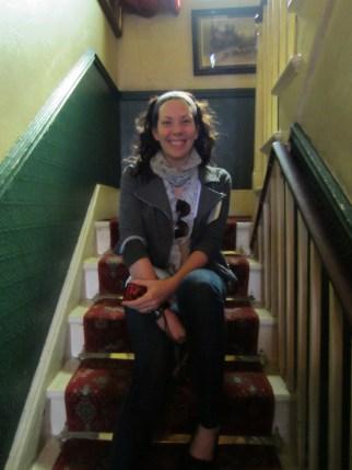 Heading up Mrs Hudson's stairs!
