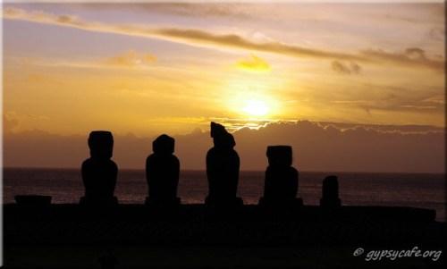Ahu Vai - Tahai Sunset. Easter Island. June 2015.