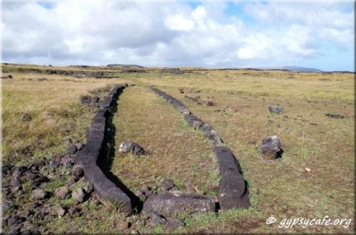 Hare Paenga (boat house) - Ana Te Peu - West Coast of Rapa Nui