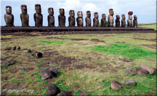 Tongariki Moai and stones