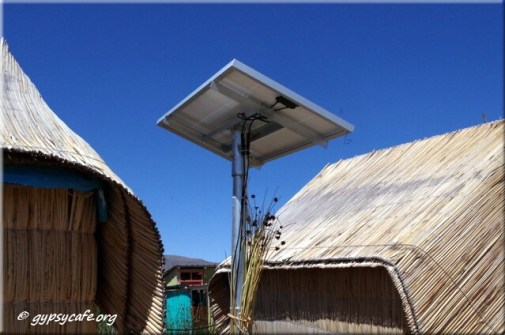 6. Solar Panels between huts - Uros - Titicaca - Peru