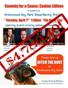 The Duke graciously donated their space for the Ditch the Dust Greenwood Dog Park fund raiser
