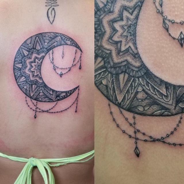 From the moon to the sun stippling dotworktattoo mandalatattoo geometrictattoohellip