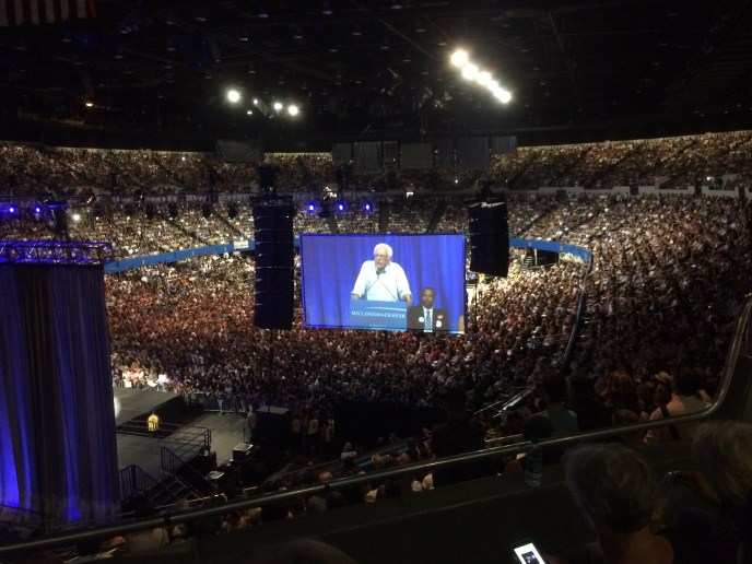 Bernie Sanders packs the L.A. Sports Arena