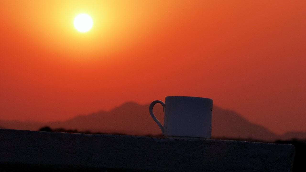 Whats a sunrise without some masala chai?