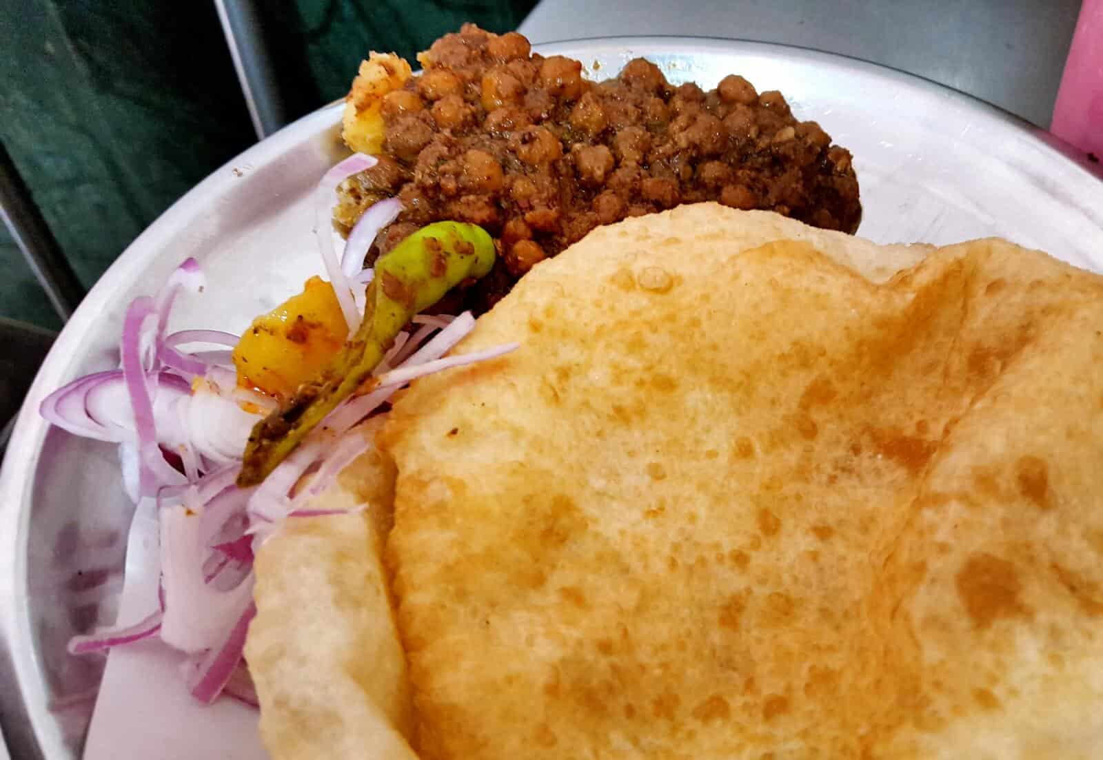 Choley Bhature at Chandni Chowk