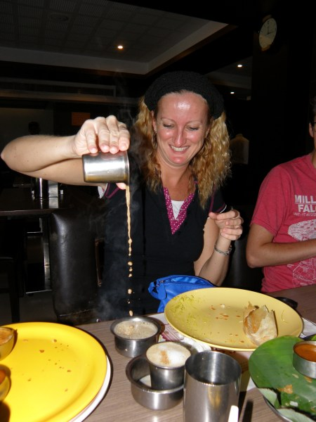 "Making my own ""pulled"" coffee in Chennai, India"