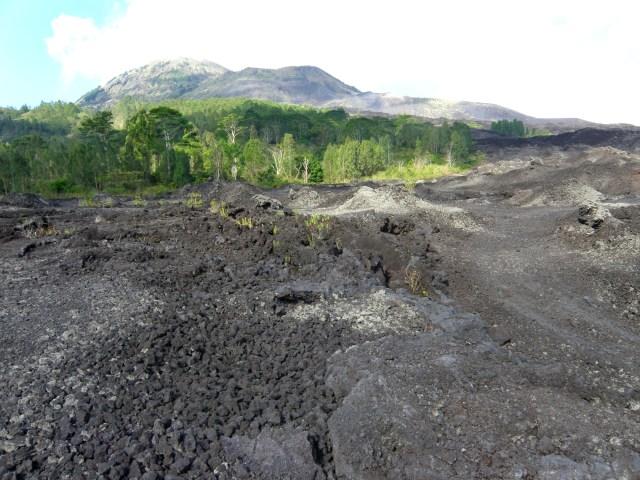 mount batur lava flow