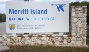 Merritt Island Wildlife Refuge sign