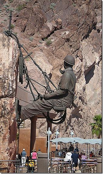 Dam worker statue