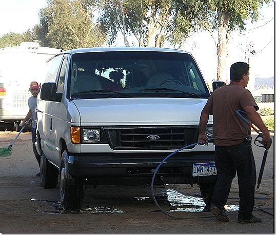 Washing van