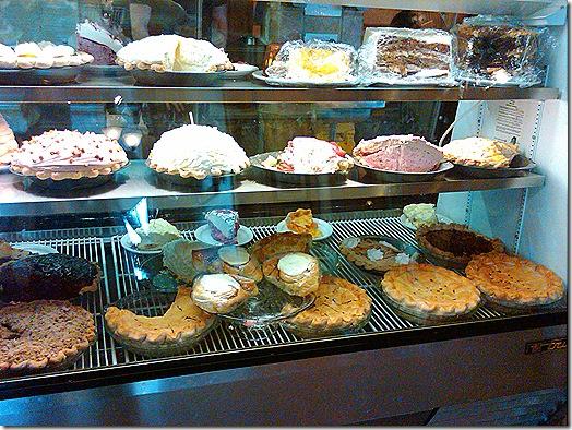 Pine Country restaurant pie display