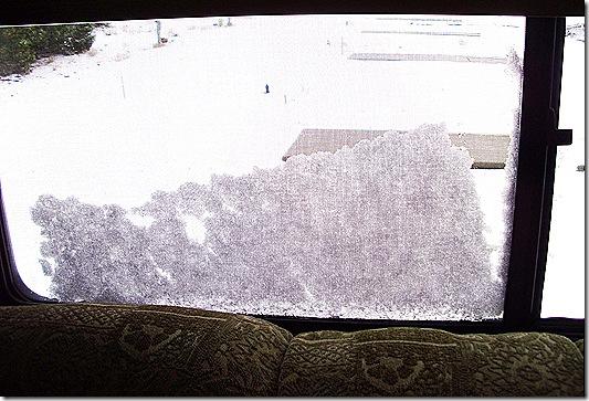 Snow on windows
