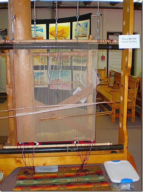 Hubbell Trading Post Visitor Center loom 2