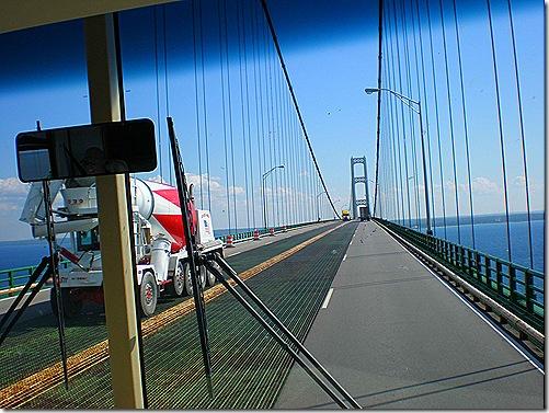 Mackinac Bridge up high 2