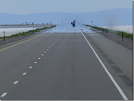 Water on road mirage