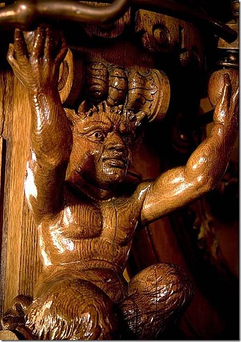 Hackley coatrack carving