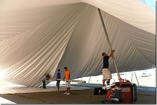 Raising tent inside best