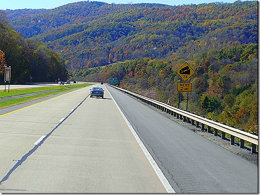 West Virginia I 64 7 percent grade