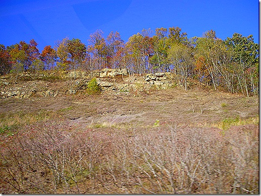 West Virginia rocky hillside