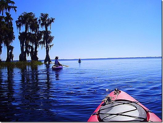 Cindy Denny kayaking