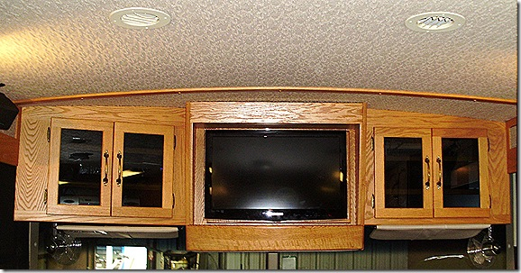 Finished front TV