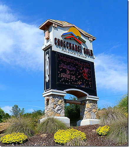 Chuckchansi Casino sign